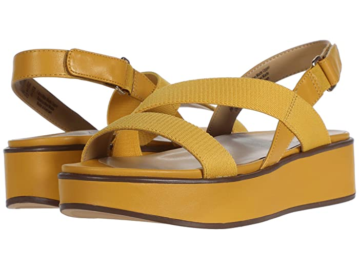 Naturalizer  Charlize (Sunset Yellow Smooth) Womens Sandals