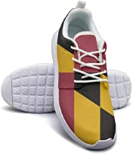 Maryland But More Flag Girl Skateboard Casual Shoes Sneakers Cute Tennis Shoes
