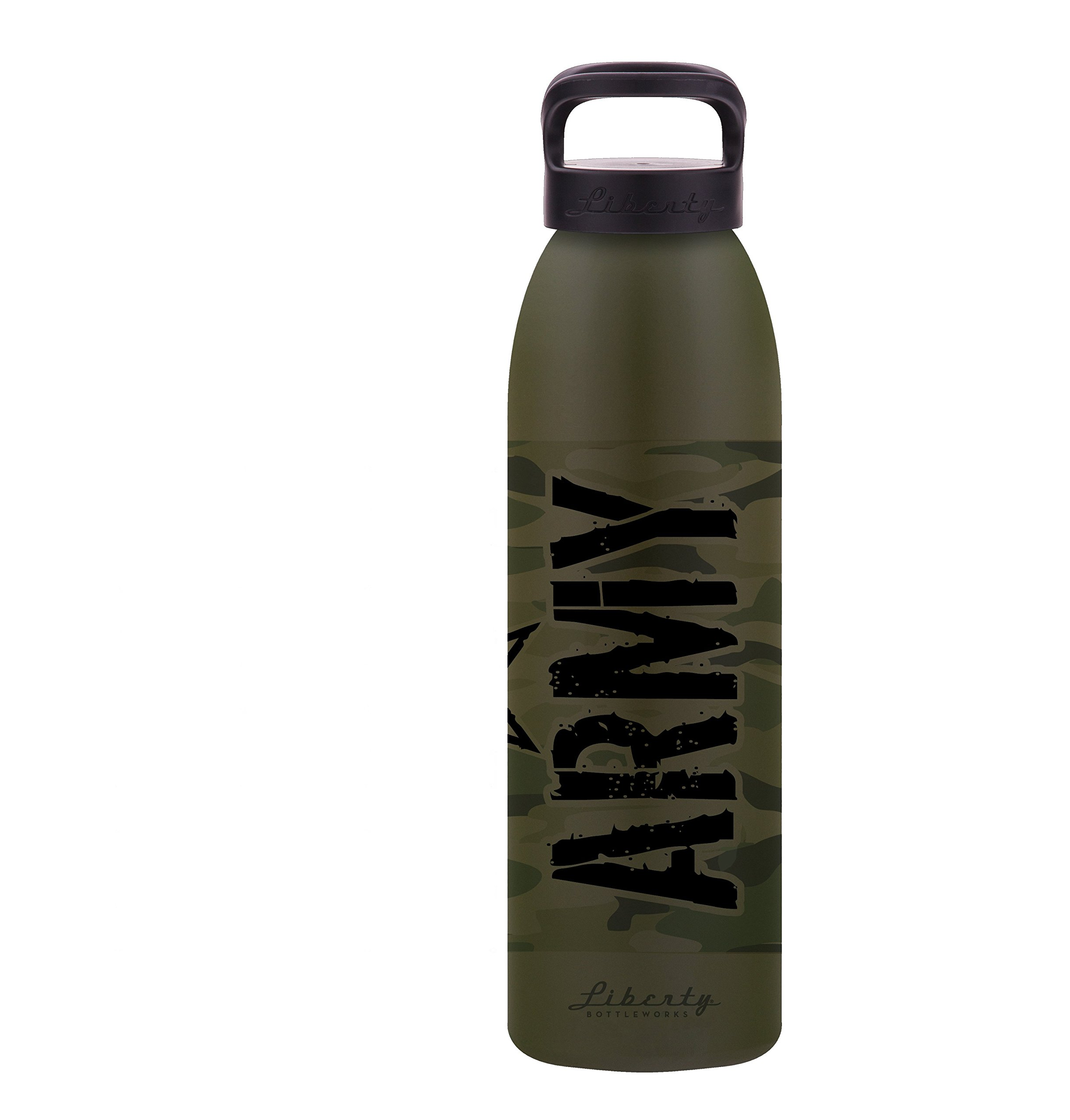 Liberty Bottleworks Army Aluminum Water Bottle, Made in USA