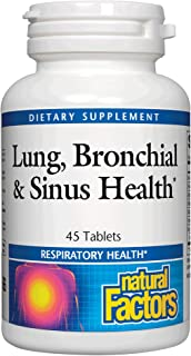Lung, Bronchial & Sinus Health by Natural Factors, Natural Supplement for Respiratory Health and Easy Breathing, 45 tablet...