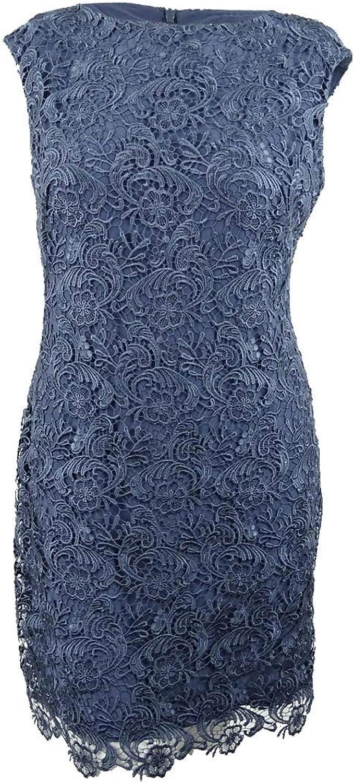 Lauren Ralph Lauren Womens Lace BoatNeck Cocktail Dress