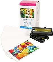 KP-108IN Set di 3 Cartucce d'inchiostro colore & Carta fotografica (108 fogli) compatibile per Canon Selphy CP Serie CP1000 CP1200 CP1300 CP780 CP790 CP800 CP810 CP910, formato cartolina: 100 x 148mm