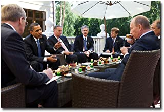 President Obama at Breakfast Meeting with Putin in Russia 30x45 Silver Halide Photo Print