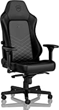 noblechairs Hero Gaming Chair - Office Chair - Desk Chair - PU Leather - 330 lbs - 125° Reclinable - Lumbar Support - Racing Seat Design - Black/Platinum White