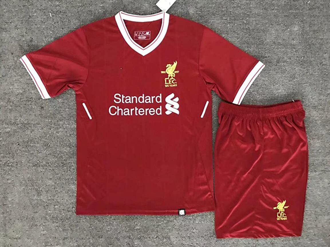 憲法不一致鳴らす大人用 サッカー2018 ユニフォーム 上下セット 背番号11 M.SALAH Liverpool FC Home (S, SALAH)