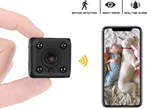 GXSLKWL Mini Spy Hidden Camera, HD 1080P WiFi Security Surveillance Cameras,Small Wireless Covert Cam for Home/Nanny/Baby/...