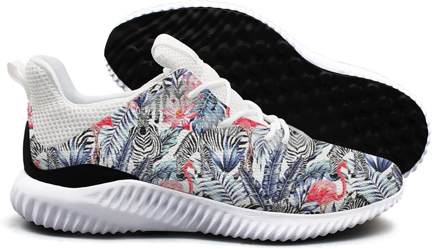 Tropical Flower and Pink Flamingo Leisure Fashion Running shoes Woman's New Jogger Active