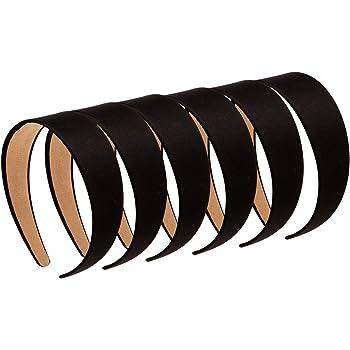 10x Haarreifen 1cm schmal Satin Haarband Aliceband Haarschmuck Stirnbänder K4V2