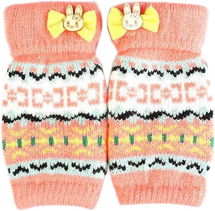 Alien Storehouse Lovely Winter Fingerless Knitted Gloves for Women's/Girls, Orange