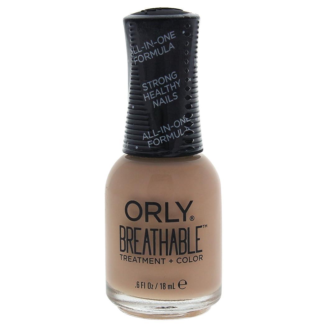 折る近代化外向きOrly Breathable Treatment + Color Nail Lacquer - Manuka Me Crazy - 0.6oz / 18ml