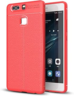 JDYS AYSMG For Huawei P9 Litchi Texture Full Coverage TPU Protective Back Cover Case (Black) (Color : Red)