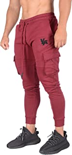 YoungLA Gym Joggers for Men | Skinny Tapered Cargo | Slim Fit Sweatpants| Workout Pants Clothes with Pockets | 203