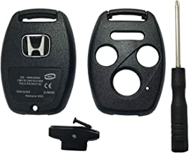 Horande Replacement Key Fob Case Shell Fit for Honda 2003-2009 Accord CR-V Ridgeline 2010 2011 Civic Pilot Key Fob Cover Shell