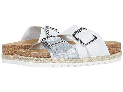 J/Slides Leighton (White/Silver Leather) Women