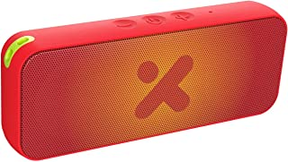 X-mini Xoundbar W - Waterproof Portable Bluetooth Stereo Speaker, IPX7, Loud Volume, Wireless, Built-in Microphone, Lightweight, Mini, for Home/Outdoors/Travel, for iPhone, Android and More (Red)