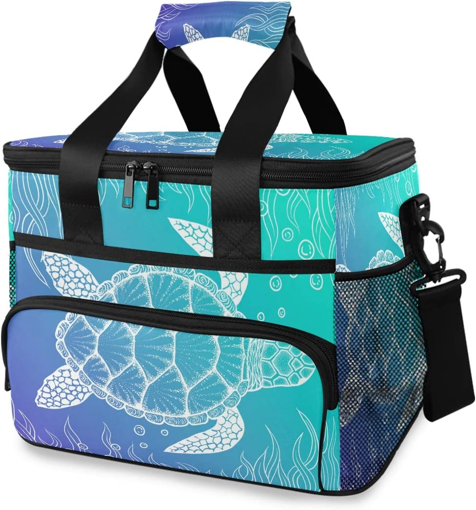 ALAZA Sea Turtle Under Water Boho Finally popular brand P store Cooler Style Large Insulated
