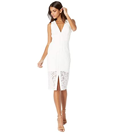 Bardot Halter Lace Dress (Ivory) Women