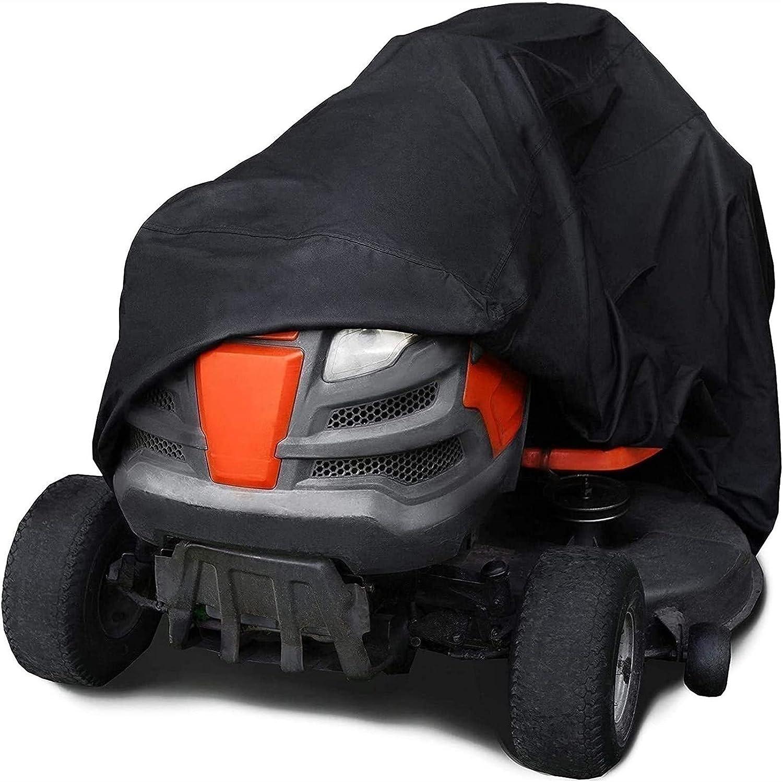 joyvio Cubierta Protectora Grande Negra para cortacésped de jardín 182x111x116cm (5.9ft x 3.6ft x 3.8ft)