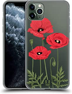Head Case Designs Red Poppies Roses and Wildflowers Soft Gel Case Compatible for iPhone 11 Pro Max