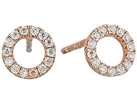 Circle Pave Stud Earrings