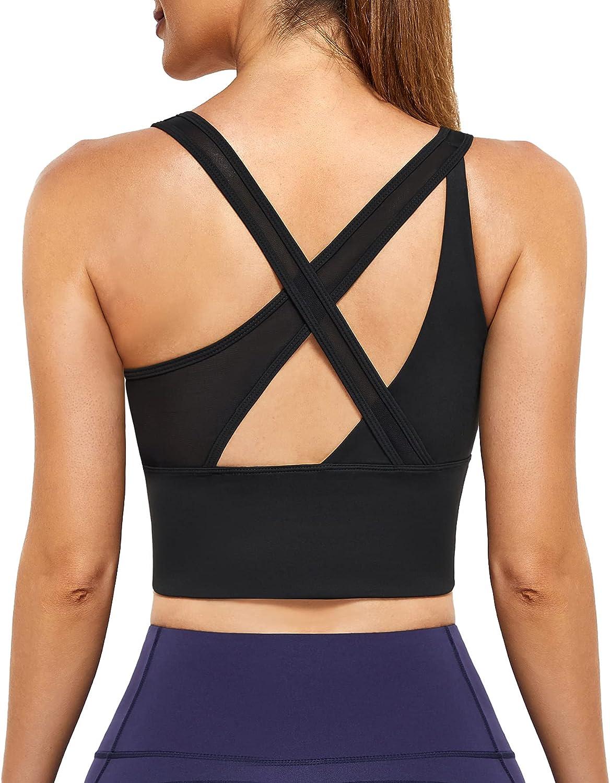 IHHCOXK Front Zip Sports Bras 5 Under blast sales popular Criss Bra Back Cross Longline Yoga
