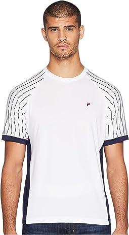 Heritage Tennis Pin Stripe Raglan Crew