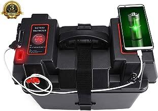 DCFlat Trolling Motor Smart Battery Box Power Center Black