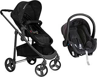 Carrinho de Bebê Olympus Preto + Bebê Conforto - Galzerano