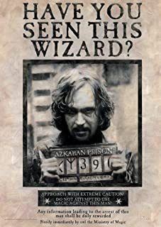 MightyPrint Harry Potter � Sirius Black � Wanted Poster � Unique Wall Art � 17� x 24� � NOT Made of Paper - Movie Collectible
