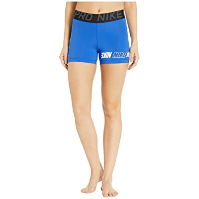 Nike Pro Sport Distort Shorts 3 (Game Royal/Black/Anthracite/White) Women