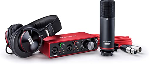 Focusrite Scarlett 2i2 Studio (3rd Gen) USB Audio Interface and Recording Bundle with Pro Tools   First