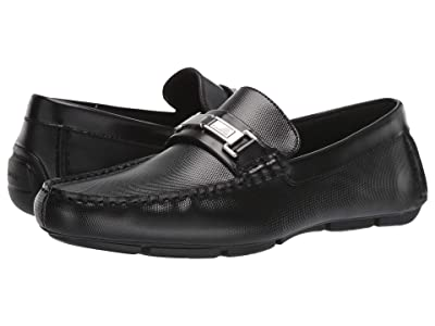 Calvin Klein Karns (Black Emboss Leather/Box Leather) Men