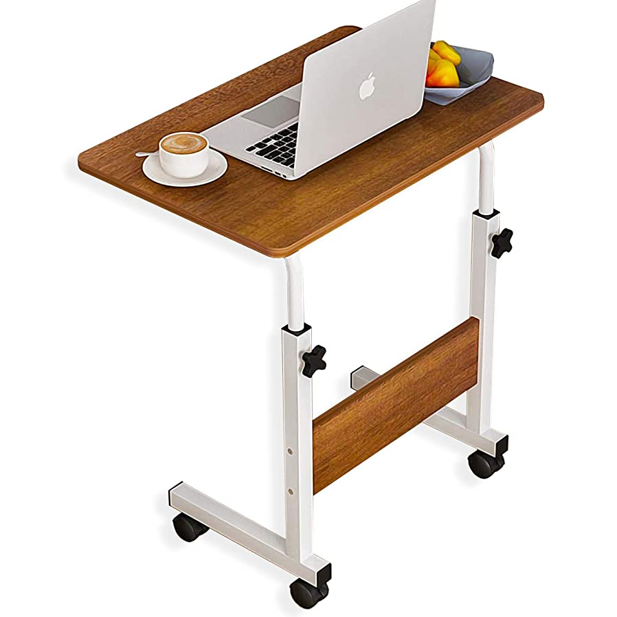 ゴミ箱を空にするより農学AKOZLIN ノートパソコンスタンド デスク 昇降式サイドテーブル 可移動デスク キャスター付きデスク リフトテーブル 60X40x(高い 60-80)CM