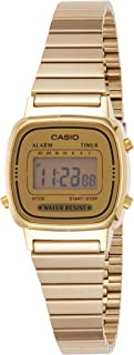 Casio Women's Gold Dial Stainless Steel Digital Watch - LA670WGA-9DF