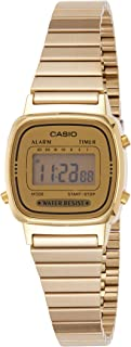 Casio Women's LA670WGA-9 Gold Stainless-Steel Quartz...