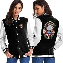 Uncle Sam's Misguided Children Women's Varsity Baseball Hoodie Jacket Outerwear Coat