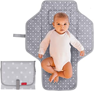 Portable Changing Pad Travel Kit - Baby Lightweight Waterproof Infant Compact Clutch Foldable Mat with Built-in Cushion Ea...