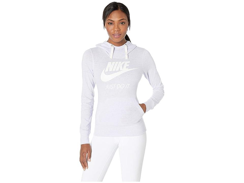 Nike Sportswear Gym Vintage HBR Hoodie (Oxygen Purple/Sail) Women