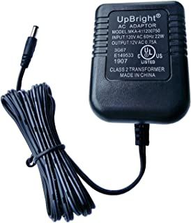 UpBright 12V AC Adapter Compatible with Model # U471AE I/P 120VAC/60Hz Output 12VAC 700mA 750mA 8.4VA 12.0V 0.7A - 0.75A AC12V 12.0VAC Class 2 Power Supply Cord Battery Charger (5.5mm x 2.1mm Barrel)