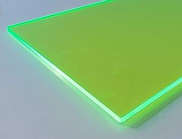 in unterschiedlichen Farben fluoreszierend 400mm x 500mm x 3mm, gr/ün fluoreszierend in-outdoorshop Plexiglas/® Zuschnitt Acrylglas Platte