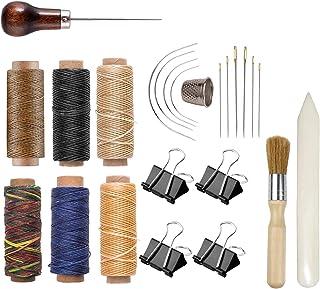 Bookbinding Kit, Kootiko Bookbinding Supplies, Book Binding Starter Tools Set with Real Bone Folder,Paper Awl, Large-Eye N...