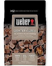 Weber(ウェーバー) 着火剤 チャコール バーベキュー 火起こし 100%天然素材点火キューブ BBQグリル用 48個 17612【日本正規品】