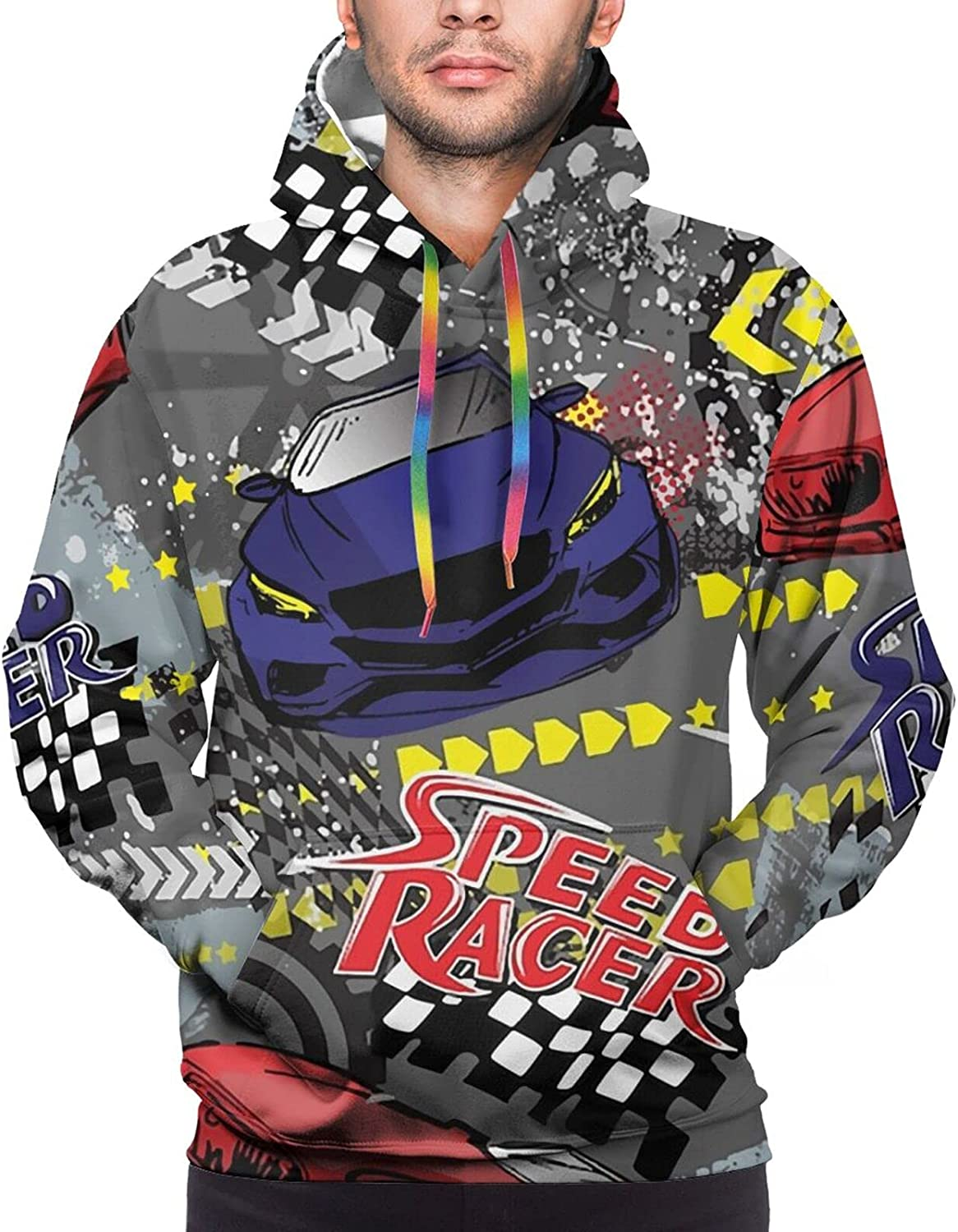 Hoodie For Teens Boys Girls Abstract Cars Shabby Texture Hoodies Outdoor Sports Sweater