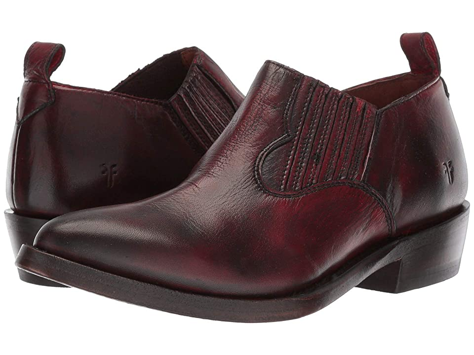 Frye Billy Shootie (Burnt Red Polished Soft Full Grain) Women