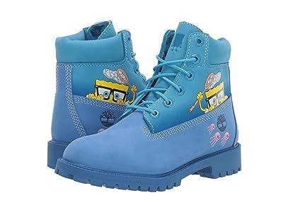 Timberland Kids 6 Premium Boot with Lined Tongue Spongebob (Big Kid) (Bright Blue Nubuck) Kids Shoes