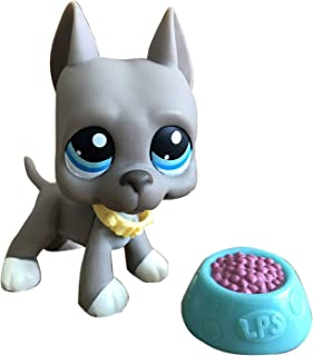 Toy Rare LPS Great Dane 184 Grey Dog Blue Eyes Puppy with Accessories Collection Toys Figure Rare Girl's Gift