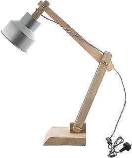 Boho Traders Chelsea Adjustable Desk Lamp, Silver/Natural