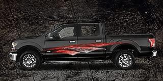 2 Car Truck Trailer Side Decals Graphics Stripes Vinyl #A1R (6ft Long 72