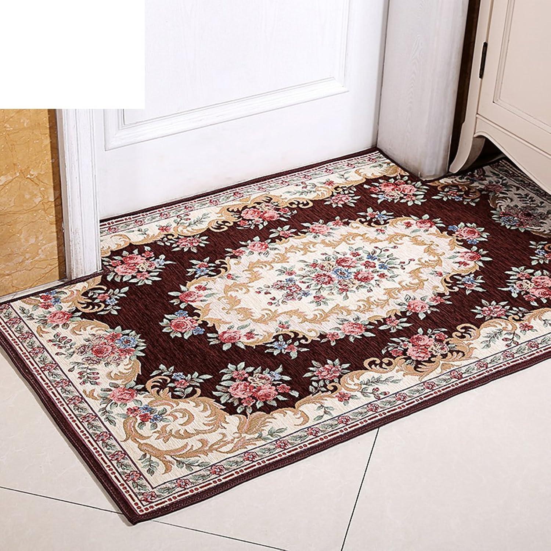 European-Style Floor mats Door mats Bathroom Water-Absorbing Anti-skidding mat Household-Home pad-F 90x90cm(35x35inch)