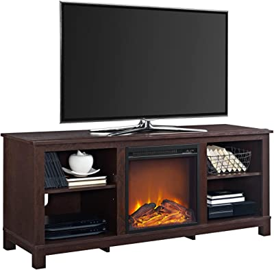 "Ameriwood Home Edgewood TV Console with Fireplace for TVs up to 60"", Espresso"